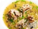 Рецепта Супа от патешки шийки с гъби и картофи